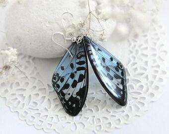 Fairytale gift Blue sky earrings Animal jewelry Summer butterfly earrings Summer sea jewelry unusual earrings Transparent earrings for women