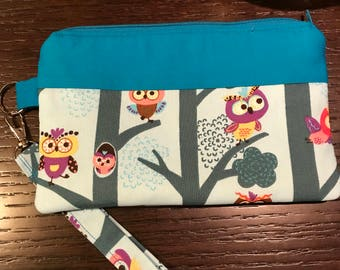 Owl In The Tree Wristlet