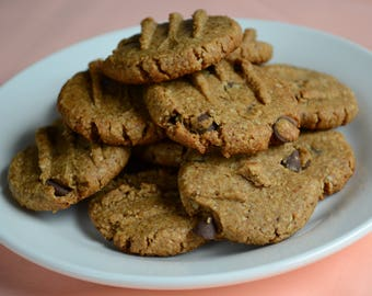 All Natural Dog Treat, Carob Dog Treat, Dog Cookie, Carob Chip Cookies, Treats For Dogs, Dog Gift, Cookies For Dogs, Carob Chip, Dogs