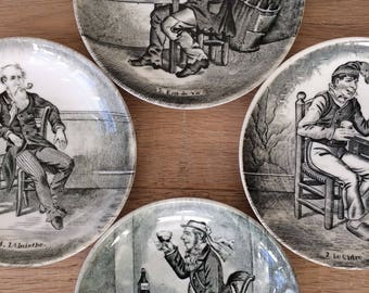 Plates-The drinkers (Sphinx Maastricht) 4 pieces