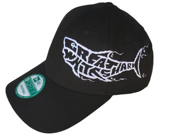 Shark Hat Embroidered Hat Great White Shark Cap Baseball Hat Baseball Cap Ocean Wildlife Sea Creature Deep Sea Fishing Jaws Calypso Reef