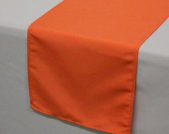 YCC Linen - Orange Polyester Table Runner | Wedding Table Runner
