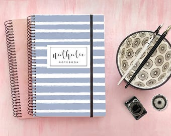 Personalized notebook or journal. Custom journal. Spiral notebook. personalized gift. Personalized name notebook. Bullet journal