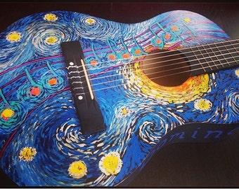 OOAK Custom Painted Ukulele or Guitar by JENLO