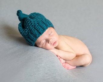dark teal newborn hat photography prop