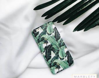 Banana leaf Phone Case, Banana leaves, Tropical,  Palm leaf, iPhone 6 , iPhone 6 plus, iPhone 7, iPhone 7 Plus case ,spring phone case