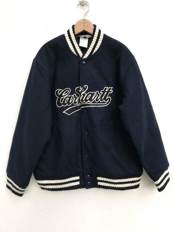 Vintage Carhatt Hoodie jacket pullover/spellout/black/Large/casual/hiphop P7PZjrs