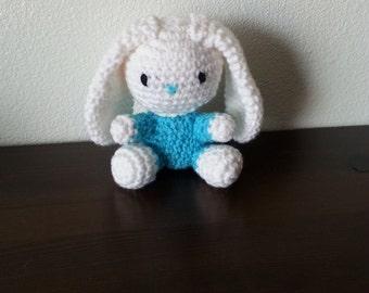 Bunny, long ear bunny, crocheted bunny
