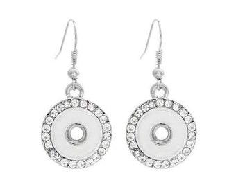 Crystal Mini Snap Hanging Earrings