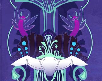 Toxicity- Nausicaa inspired motif illustration
