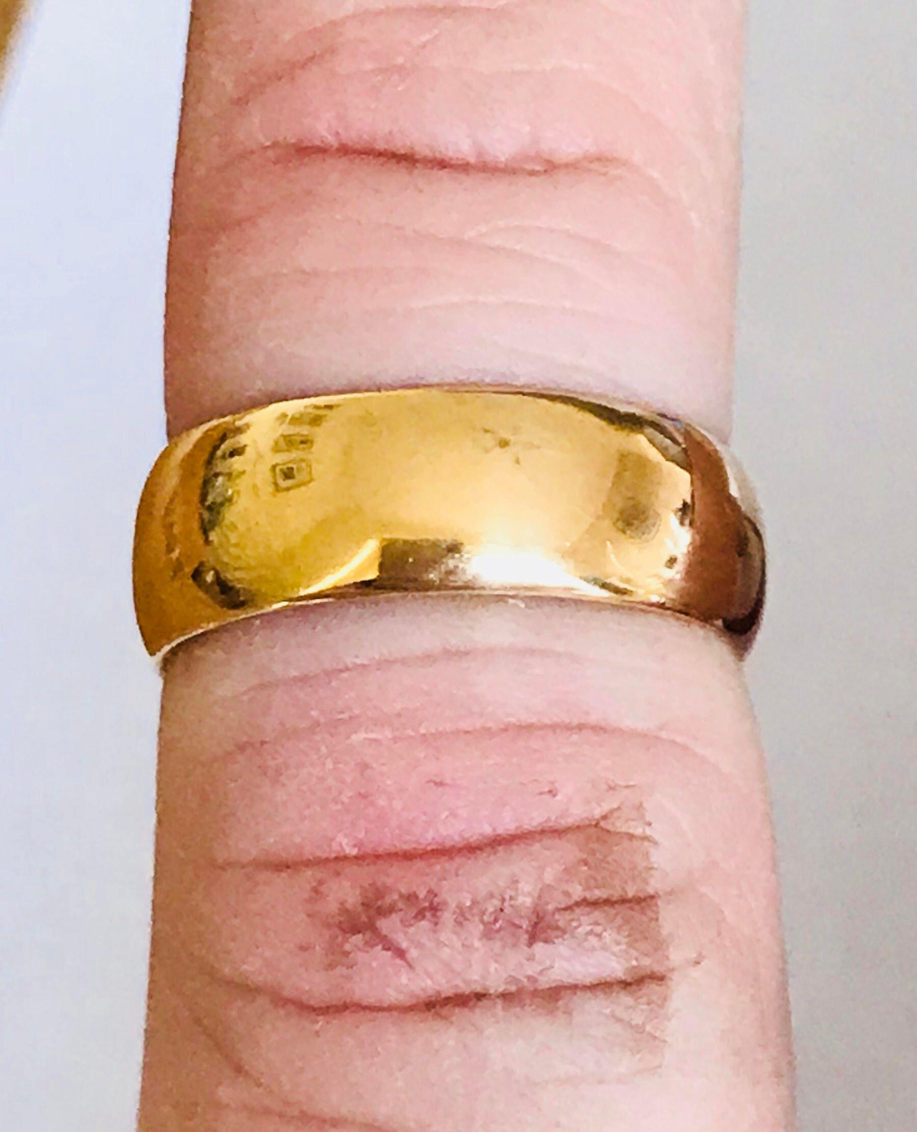 Stunning antique 22ct gold wedding ring - Birmingham 1938