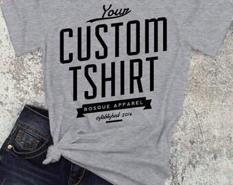 Custom Printed T-Shirt - ink printed