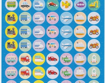 Car Stickers - Transportation Stickers - Reward Stickers - Large Sheet - Reference A2395-98