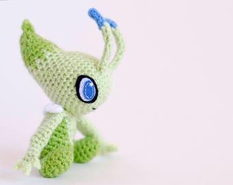 Celebi crochet, pokemon planters, pokemon planter, plush pokemon, pokemon plushies, pokemon go, amigurumi dolls, pokeball, pokemon gift
