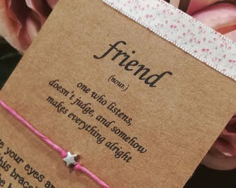 Friendship Bracelet, Wish Bracelet, Friend Bracelet, Best Friends Gift, Friendship Card, Friend Wish Bracelet, Friendship Wish Bracelet,