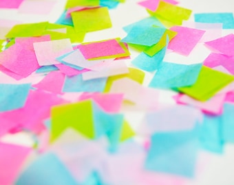 Hot Pink Blue Green Confetti, Lilly Pulitzer Inspired Party, Lilly Pulitzer Theme Party, Hot Pink Confetti, Biodegradable Confetti