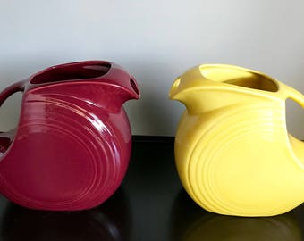 Contemporary (Post-1986) Fiestaware 64 Oz. Disc Pitcher - Only Sunflower Left!!!