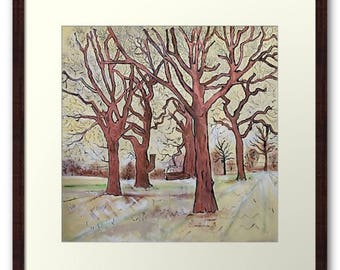 Framed Print Wall Art Taken From The Original Oil Painting 'The Trees In The Field Clap Their Hands' By Sally Anne Wake Jones