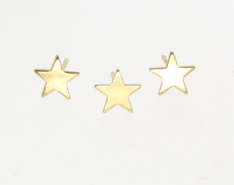 Star Stud Earrings, Star Earring Studs - Tiny 14k Gold Post Earrings, by Theresa Mink, Classic Designs on Etsy