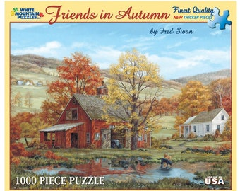 "Vintage Puzzle - Friends in Autumn - 1000 Piece Jigsaw Puzzle - GREAT GIFT - 24"" x 30"""