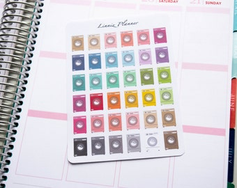 Washing Machine Regular size (matte planner stickers, perfect for planners)
