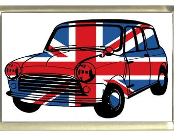 Union Jack Flag Mini Car Fridge Magnet 7cm by 4.5cm,