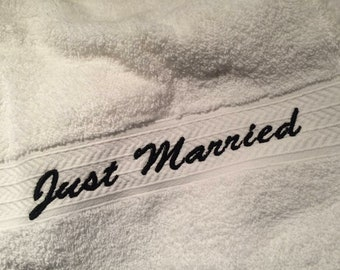 Just Married Wedding towel's, wedding gifts,