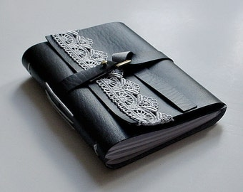 Great Holiday Gift - Faux Leather Journal - Black