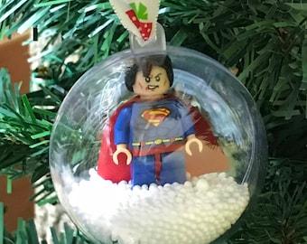 Holiday Christmas Tree Ornament Marvel Comic Superman Lego Figurine