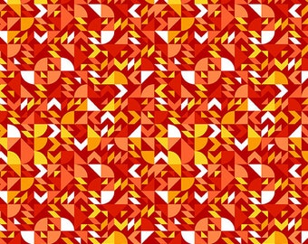 Pre-Order Libs Elliott Fabric, Come On Over, A-8867-O Tangerine, Andover, 100% Cotton