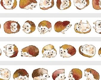 Porcupine Washi Sampler,  Cute Animal Washi Sample, Collectible Masking Tape, Deco Tape