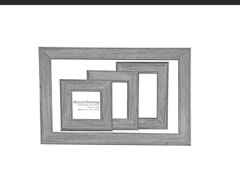 Driftwood Picture Frames from 4x4 - 20x30 or Larger - Custom Sizes for  Art, Photography, Certificates, Wedding, Cosmetology, Wedding (B01)