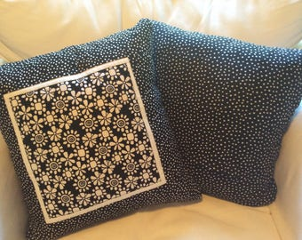 Flower Quilted Pillow Cover