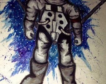 Geometric Space Man