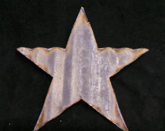 Large Corrugated Metal Star Set of 3 or Set of 6 / Fourth of July Decor/ Baby Shower / Wedding / Barn Tin / DIY/ Independence Day Craft Idea