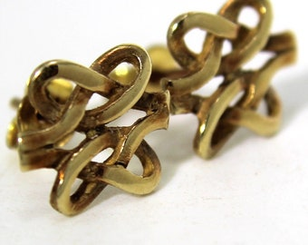 Vintage Celtic Knot 9ct Yellow Gold stud earrings