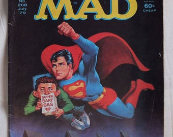 Mad Magazine July 1979 Issue No. 208 - Superman, Battlestar Galactica