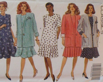Maternity Pattern - Unlined Jacket, Dress and Hankie Sewing Pattern - Butterick 6599 - Sizes 6-8-10-12, Bust 30 1/2 - 34, Uncut