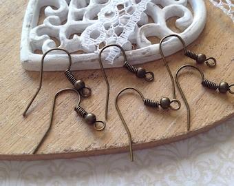 Bronze 18 mm earring 100 hooks