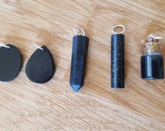 Black tourmaline and iron