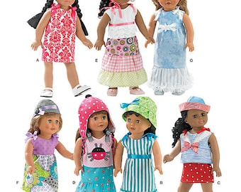 "Simplicity 1928- Casual Play Clothes-Summer Clothes for 18"" Dolls-Fits american girl dolls"