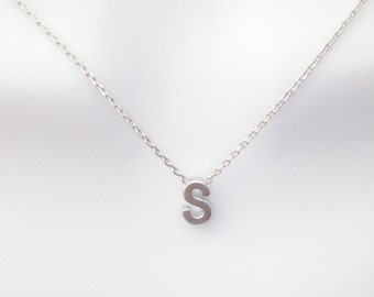 Personalized, Capital letter, Initial, Capital, Letter, Silver, Necklace, Custom, Letter, Alphabet, Birthday, Friendship, Gift, Jewelry