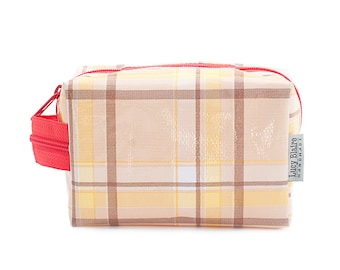 Waterproof Make Up Bag Cosmetic Case Small Plaid