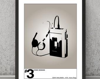 Sony Walkman print, Sony Walkman poster, Sony Walkman art, Sony Walkman wall decor, contemporary poster, contemporary print, modern poster