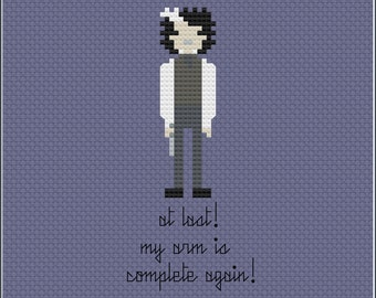 8-Bit Wonder - Sweeney Todd PDF Cross-Stitch Pattern