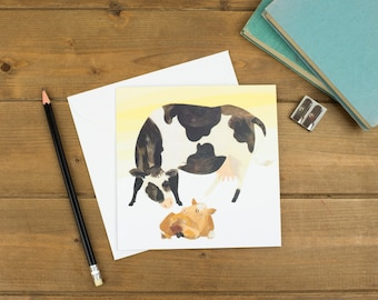 Cow and Calf Greetings Card