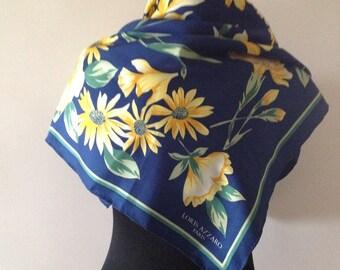 Loris Azzaro, silk scarf, vintage