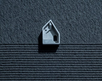 Chimera #7: Micro Concrete Necklace / Brooch