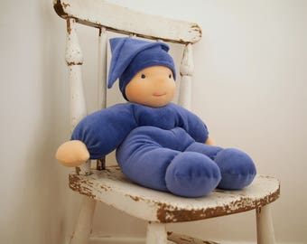 """Waldorf baby doll, soft body doll, bunting doll, baby doll, Steiner doll, 16"""", 16in doll"""