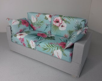 Modern Miniature Dollhouse Conservatory Sofa Couch 1:12 Scale